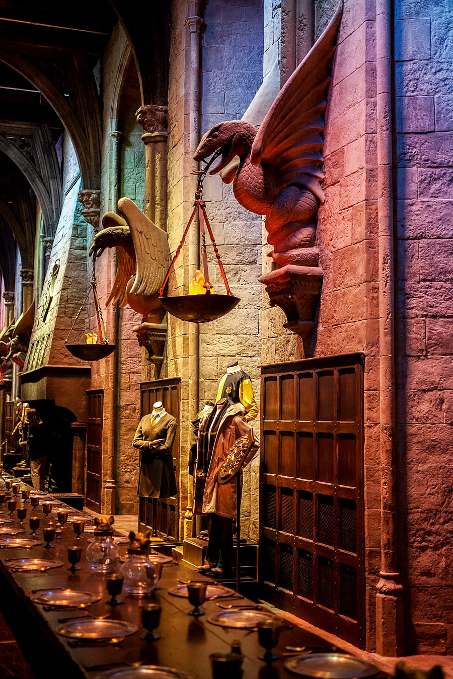 Visite au Harry Potter Warner Bros Studio de Londres - La grande salle