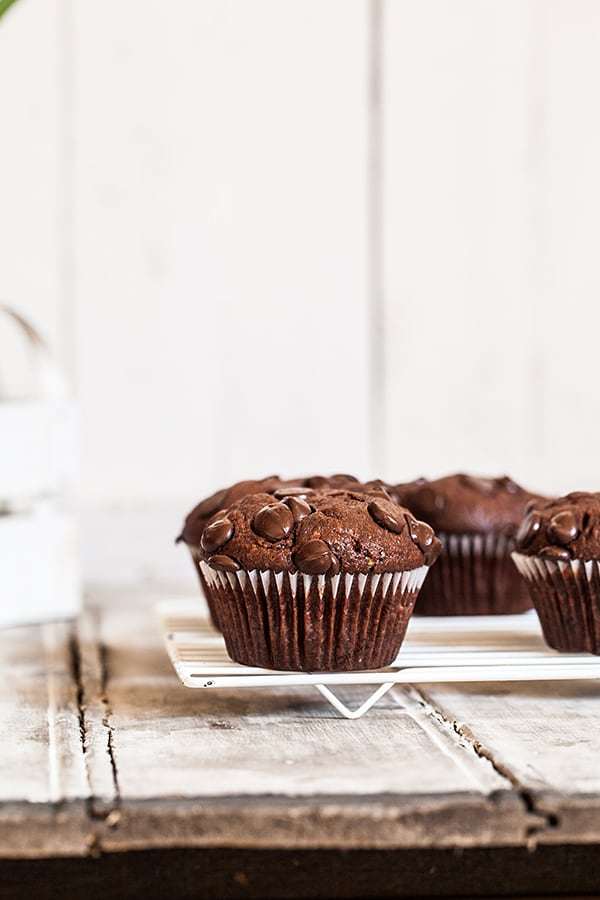 Muffin tout chocolat ultra moelleux